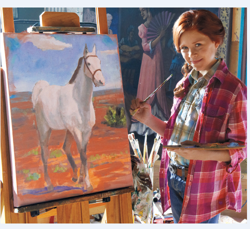 That's me, Saige! I love painting horses.