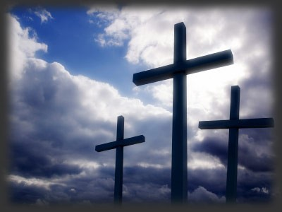 The cross is standing...
