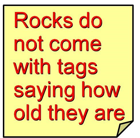 The true age of rocks