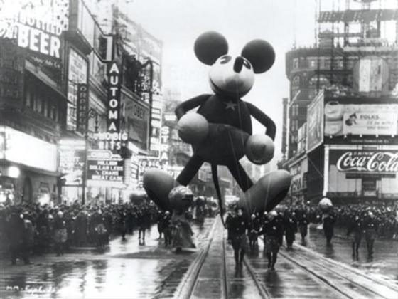 The Mickey Mouse balloon from the Macy's Parade from sometime in the 1940s or 50s.